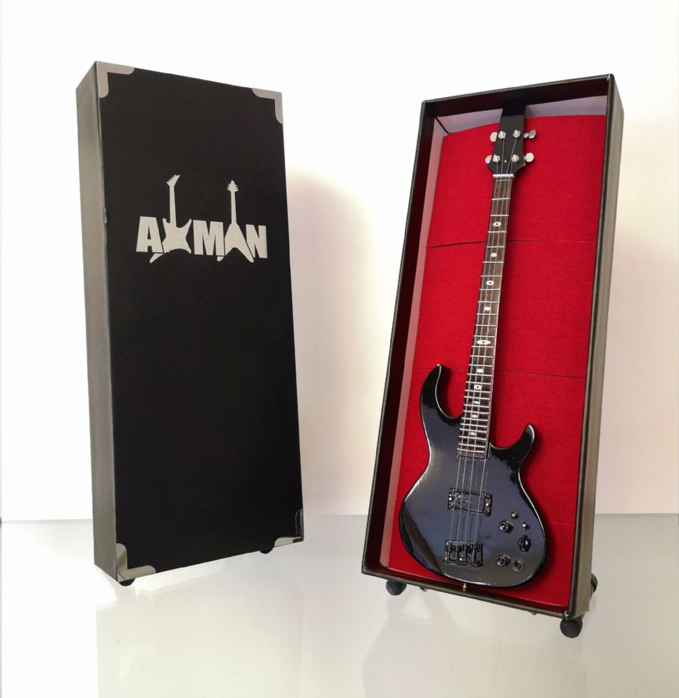 (Metallica) Cliff Burton - ARIA SB-CB Bass: Miniature Guitar Replica (UK Seller)